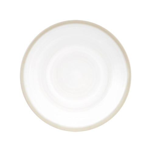 """9"""" Coupe Plate in White - Louisville Pottery Collection"""