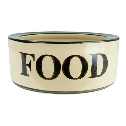 """9"""" Rimmed Pet Food Bowl"""