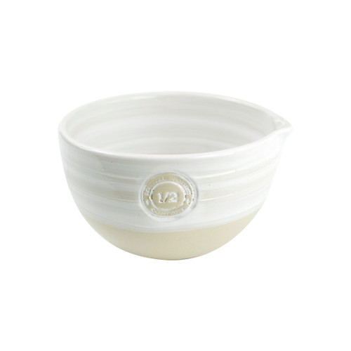 #1/2 Louisville Pottery Collection Nested Mixing Bowl in White