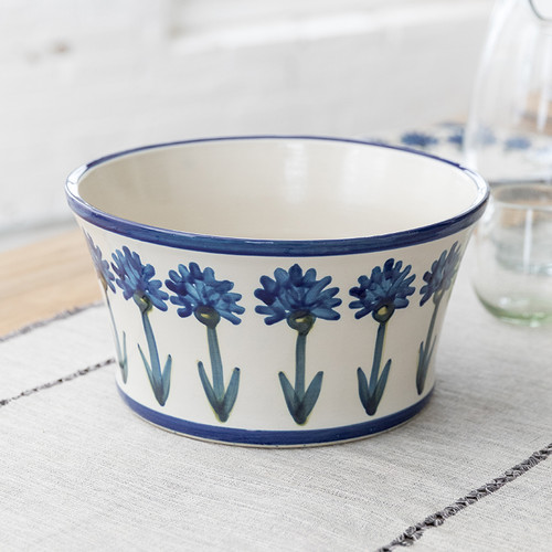 """12"""" Salad Bowl in Bachelor Button"""