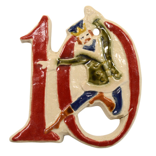 Ten Lords A Leaping Twelve Days of Christmas Ornament