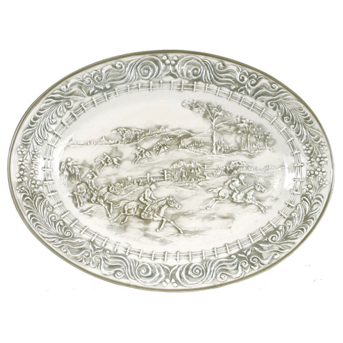 """19"""" Embossed Steeplechase Oval Platter"""