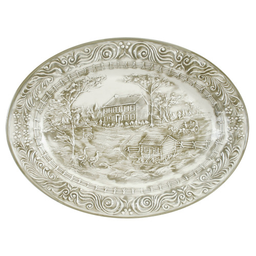 """19"""" Embossed My Old Kentucky Home Oval Platter"""