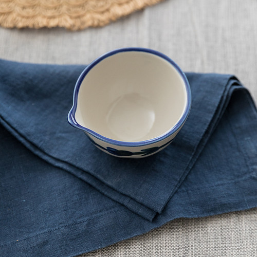 4 oz Spouted Nesting Bowl in Bachelor Button