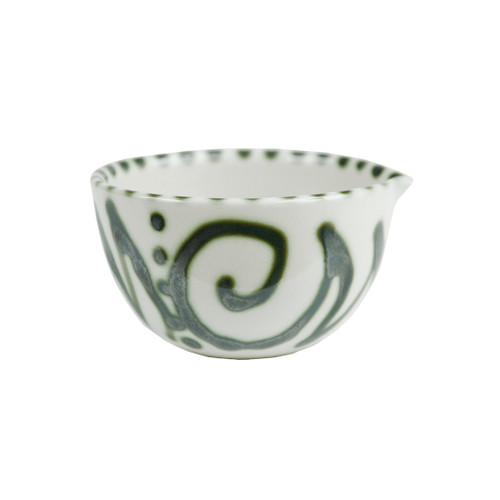 4 Ounce Spouted Nesting Bowl in Graffiti Green