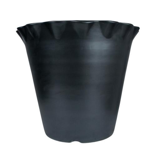 """15"""" Flower Pot in Bell Black"""
