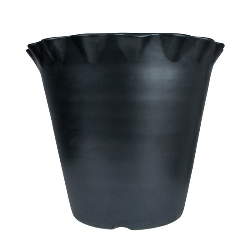 "15"" Flower Pot in Bell Black"