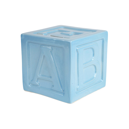 """5"""" ABC Block Bank in Blue"""