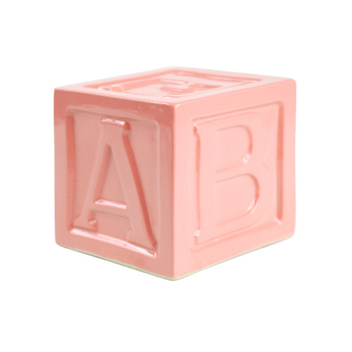 ABC Block Bank in Pink