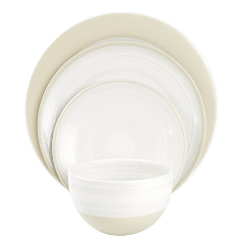 4-PIECE PLACE SETTING LOUISVILLE POTTERY COLLECTION
