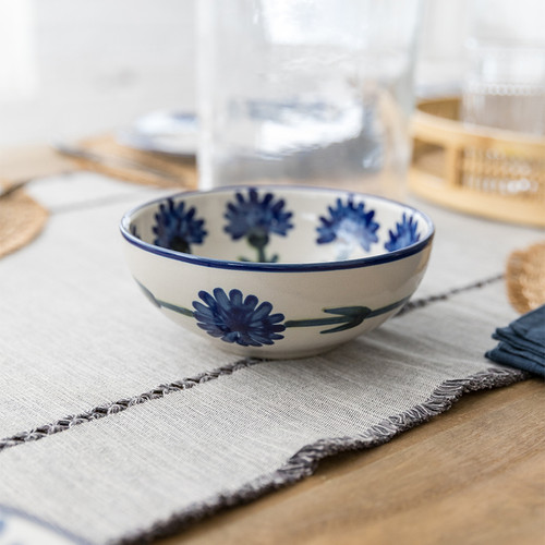 """7"""" Serving Bowl in Bachelor Button"""