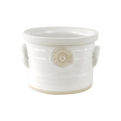 """6"""" Cake Crock in White- Louisville Pottery Collection"""