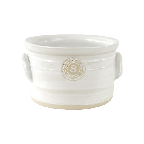 "8"" Cake Crock in White- Louisville Pottery Collection"