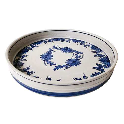 """16"""" Serving Tray in the beautiful and timeless Elodie pattern."""