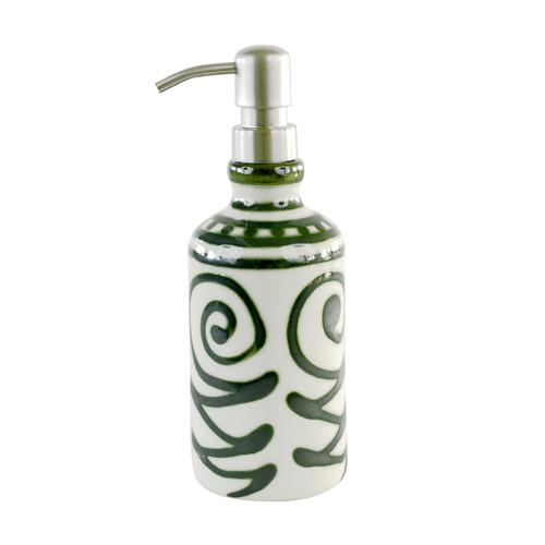 Tall Liquid Soap/Lotion Dispenser in Graffiti Green