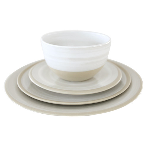 "Louisville Pottery Collection Place Setting with 11"" Coupe dinner plate"