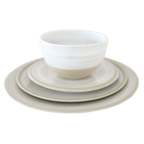 """Louisville Pottery Collection Place Setting with 11"""" Coupe dinner plate"""