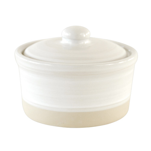 Louisville Pottery Collection White Bathroom Caddy with Lid