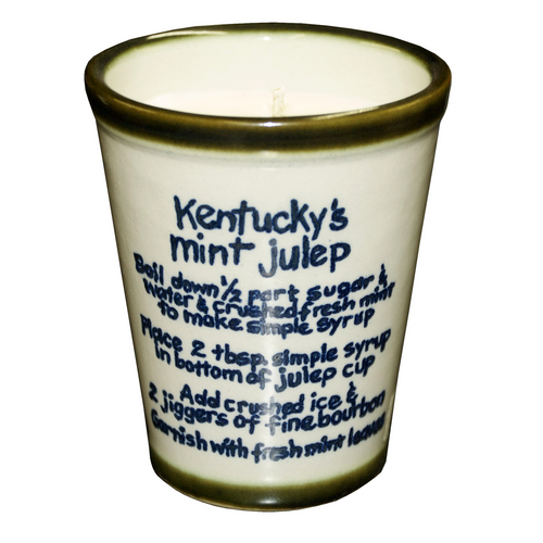Julep Cup with Soy Candle In Mint Julep Recipe Blue Bands