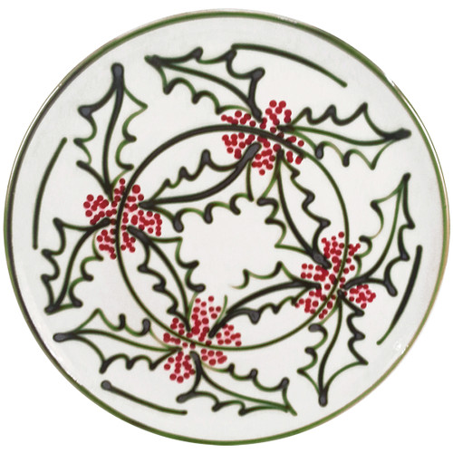 "16"" Round Platter in Holly Graffiti"