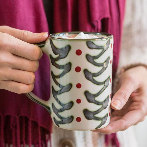 Holly Graffit Mug, Christmas Mugs