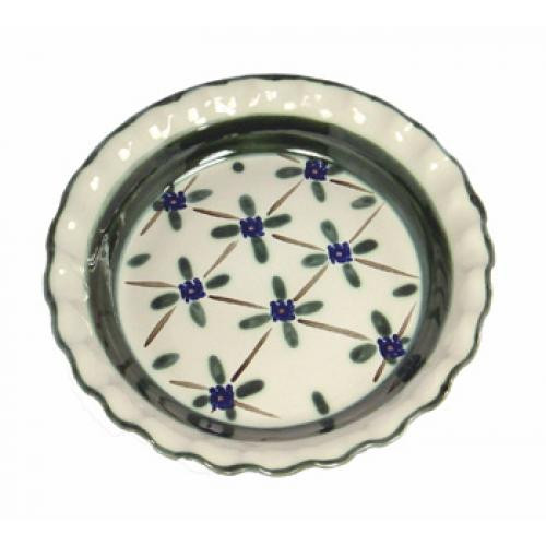Thumb Print Pie Plate in French Country