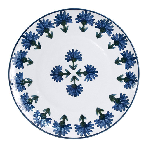 "14"" Round Platter in Bachelor Button"