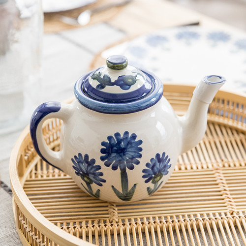 Teapot & Cover in Bachelor Button