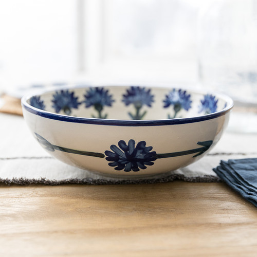 """11"""" Serving Bowl in Bachelor Button"""