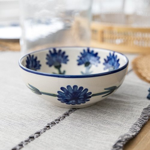 """9"""" Serving Bowl in Bachelor Button"""