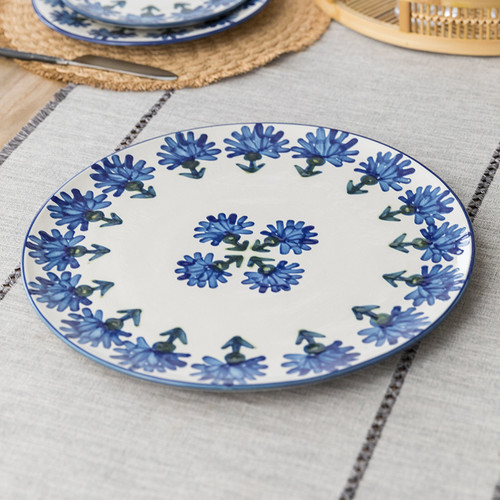 """16"""" Round Platter in Bachelor Button"""