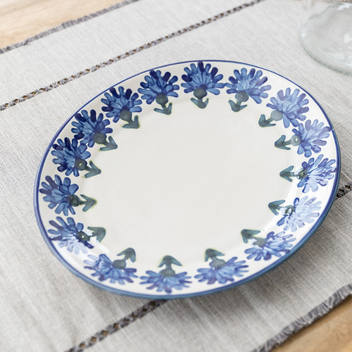 "12"" Oval Platter in Bachelor Button"