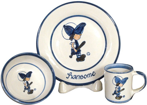 Personalized 3-Piece Child's Place Setting with Lil' Guy