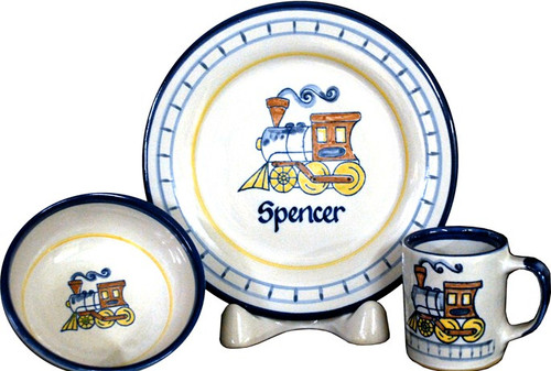 Personalized 3-Piece Child's Place Setting with Choo Choo