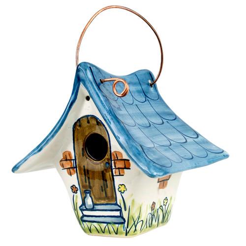 """8.5"""" Wren Birdhouse Large in Blue"""
