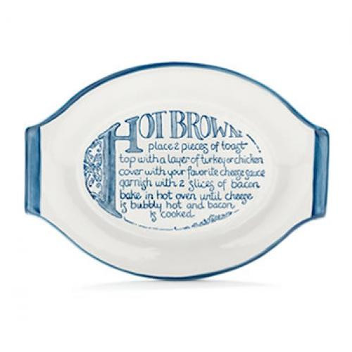Hot Brown Baking Dish in Blue