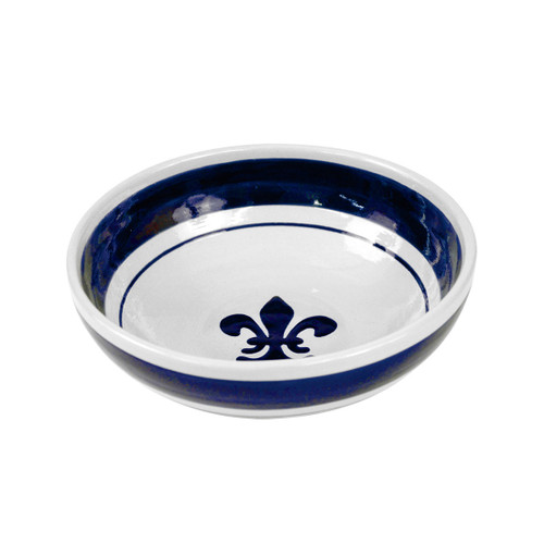 "9"" Serving Bowl in Blue Fleur de Lis"