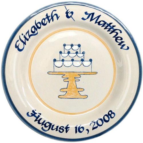 Personalized Wedding Cake Plate