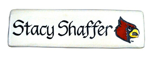 Personalized University of Louisville Name Plate