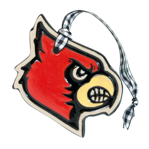 University of Louisville Cardinal Embossed Ornament