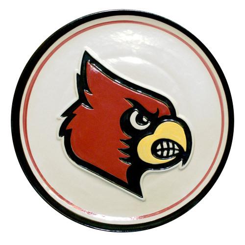 "University of Louisville Cardinal Embossed 16"" Platter"