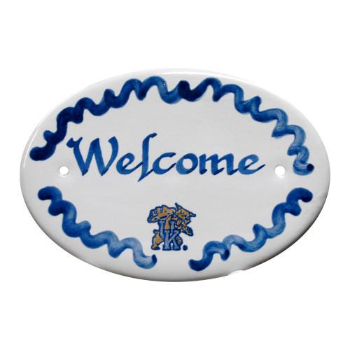 """University of Kentucky Wildcat 8"""" Oval Door Plaque"""