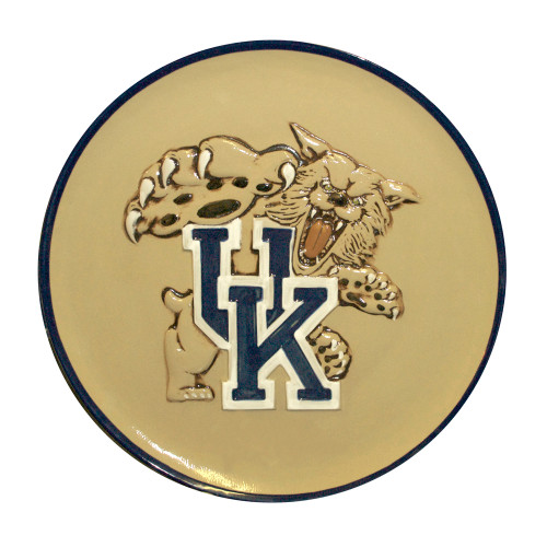 "University of Kentucky Wildcat, Embossed 16"" Round Platter"