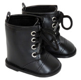 Black Combat Boots for AG girl or boy dolls.