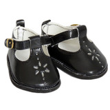 Black T-Strap Shoes for 18 inch dolls