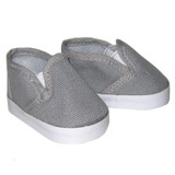 Gray canvas slip-on shoes
