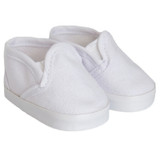 White Slip-On Canvas Shoes for 18 inch boy or girl dolls.