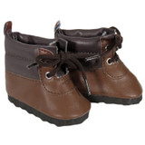 Two-Tone Brown Hiking Boots for 18 inch boy or girl dolls.