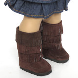 K29.  Brown Fringe Boots