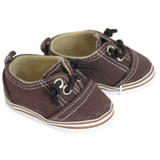 18 inch AG doll shoes - Brown Sneakers with No-Tie Laces